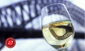 wine, bridge, aperture, logo'd